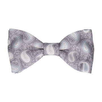 MENS CHECKERED SILVER BOW TIE Pretied Patterned Formal Wedding Grey Metallic