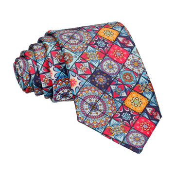 Colourful Mosaic Tile Patchwork Tie