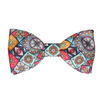 Colourful Mosaic Tile Patchwork Bow Tie