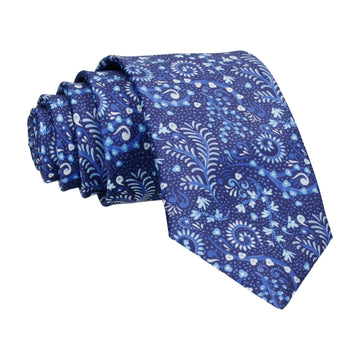 Blue Colourful Multi Reef Print Tie
