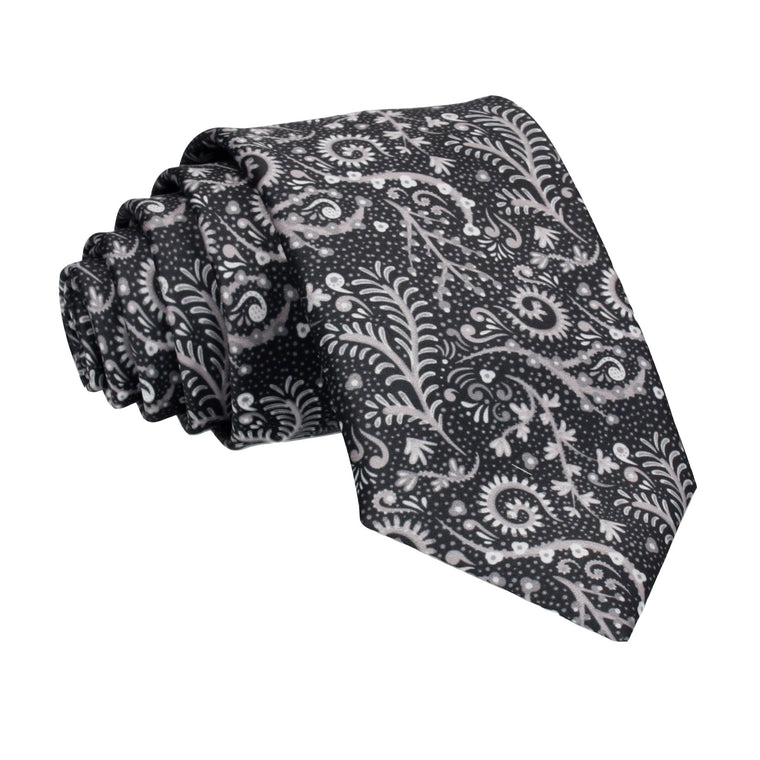 Black Colourful Multi Reef Print Tie