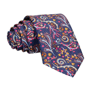 Colourful Pink Multi Reef Print Tie