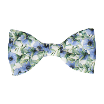 Blue Anemone Flower Bow Tie