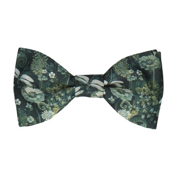 Dragonfly Floral Jungle Green Bow Tie
