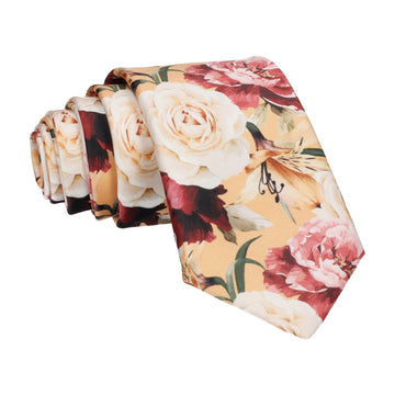 Lily Rose Bouquet Yellow Tie