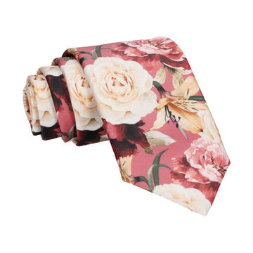Lily Rose Bouquet Sorbet Pink Tie