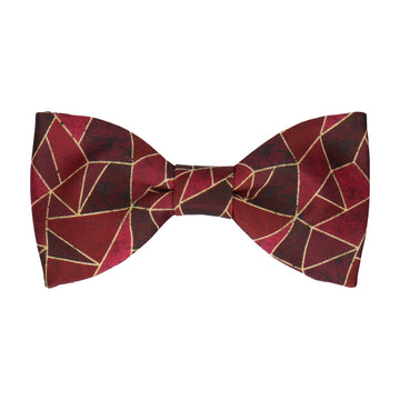 Red Persian Geometric Bow Tie