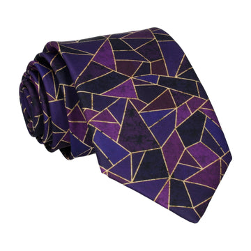 Purple Persian Geometric Tie