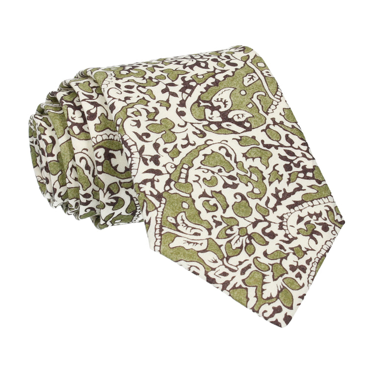 Green Lagos Laurel Liberty Cotton Tie