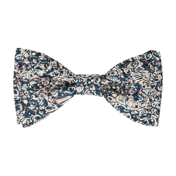 Blue & White Zoolites Pattern Liberty Bow Tie