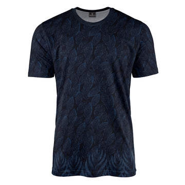 Leaf Shadow Blue T-Shirt
