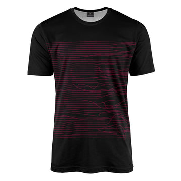 Lines in Black & Pink T-Shirt