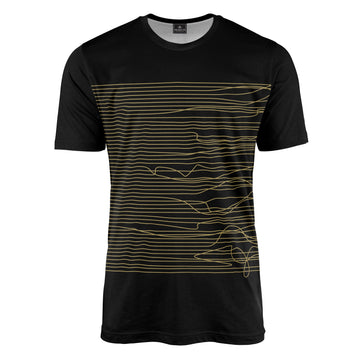 Lines in Black & Gold T-Shirt