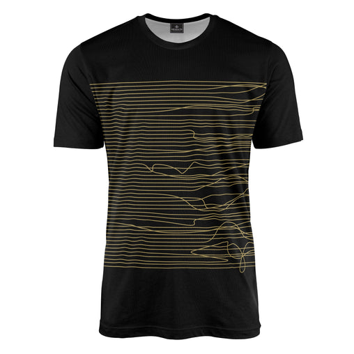 Lines in Black & Gold Tee