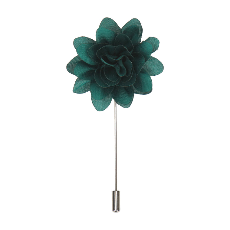 Jade Green Flower Lapel Pin