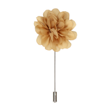 Soft Gold Flower Lapel Pin