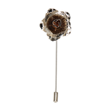 Metal Flower Silver Lapel Pin