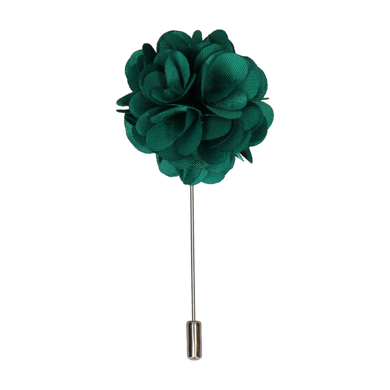 Jade Green Floral Boutonniere Lapel Pin