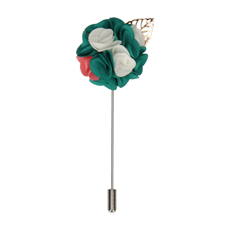 Bouquet (Green & White) Lapel Pin