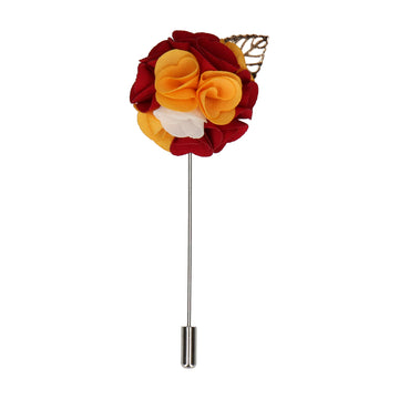 Bouquet (Red & Yellow) Lapel Pin