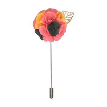 Bouquet (Pink & Yellow) Lapel Pin