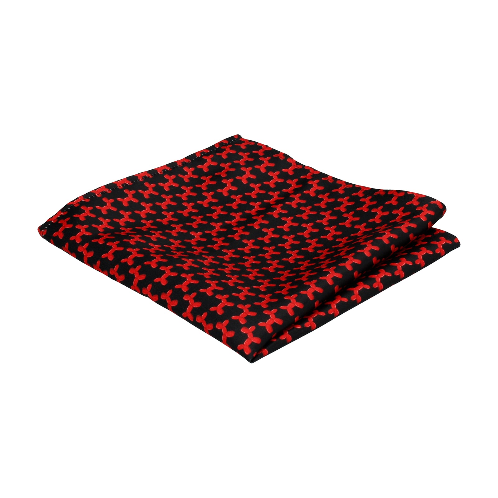 Black & Red Balloon Dogs Pocket Square