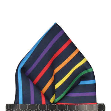 Barkwith Rainbow Stripe Pocket Square