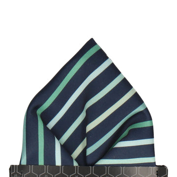 Barkwith Green Stripe Pocket Square