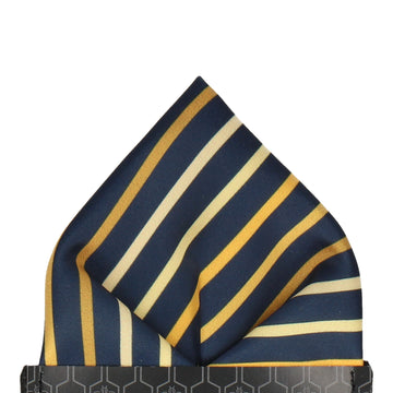 Barkwith Yellow Stripe Pocket Square