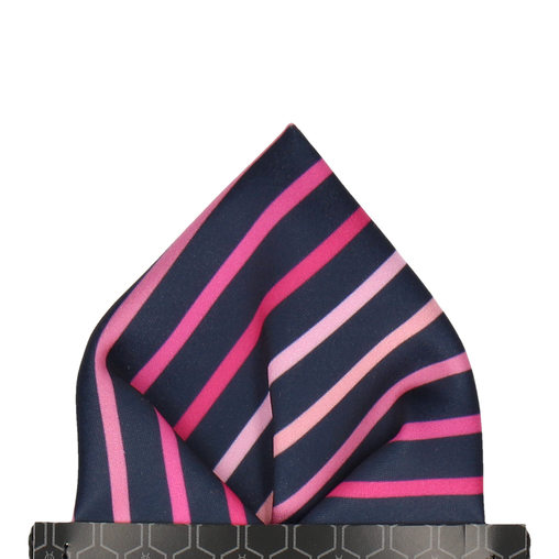 Barkwith Pink Stripe Pocket Square