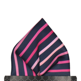 Pink Ombre Stripe Pocket Square