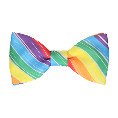 Hove Rainbow Stripe Bow Tie