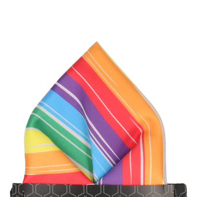 Hove Rainbow Stripe Pocket Square