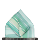 Light Green Rock Stripe Pocket Square