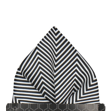 Zig Zag Monochrome Pocket Square