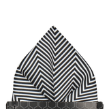 Black & White Zig Zag Monochrome Pocket Square