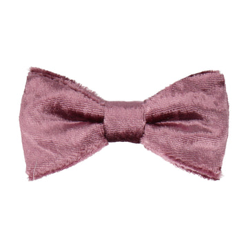 Mauve Pink Crushed Velvet Bow Tie