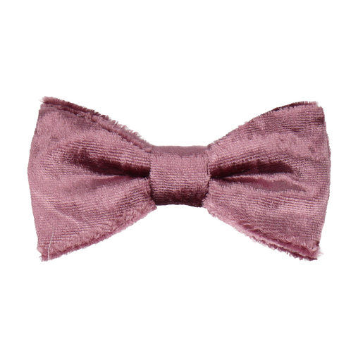 Crushed Velvet Mauve Pink Bow Tie