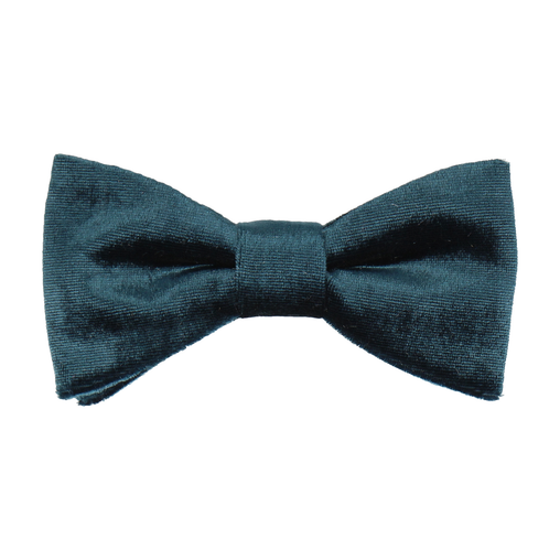 Velvet Dark Peacock Blue Bow Tie