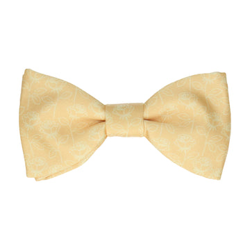 Lainston Roses Soft Yellow Bow Tie