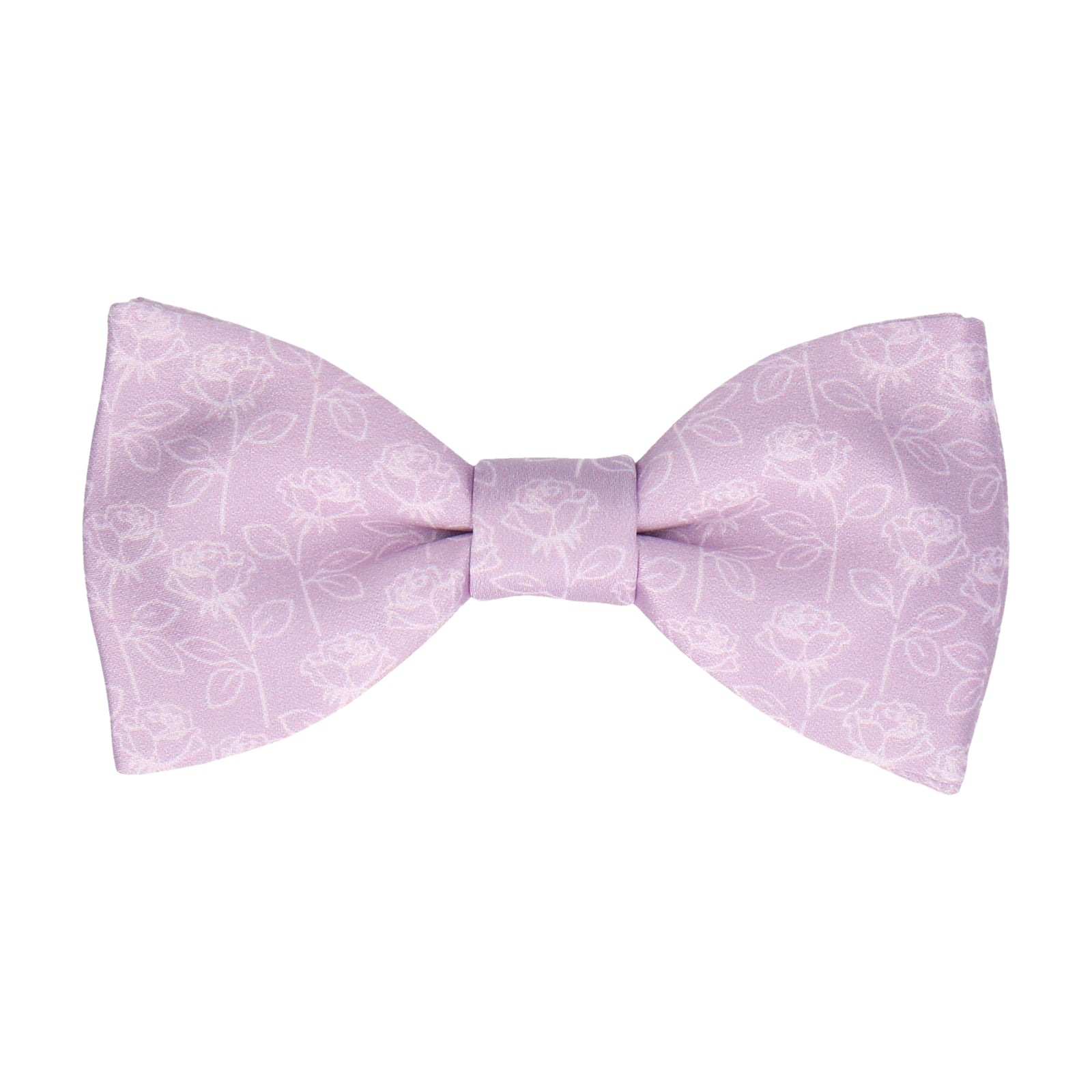 Wisteria Lilac Stencil Roses Wedding Bow Tie