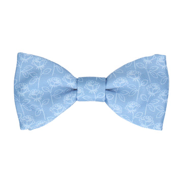 Lainston Roses Dusty Blue Bow Tie