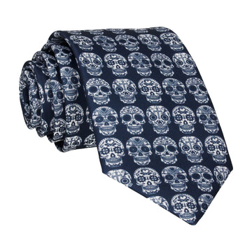 Mini Sugar Skulls Navy Blue Tie