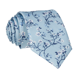 Light Blue Blossom Floral Tie