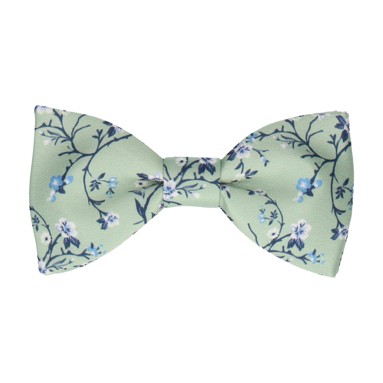 Light Green Blossom Floral Bow Tie
