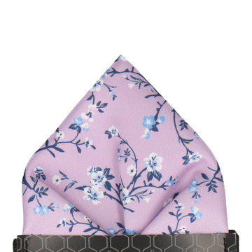 Wisteria Purple Blossom Floral Pocket Square