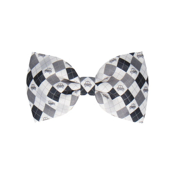 Car Argyle in Grey (Child's Bow Tie)