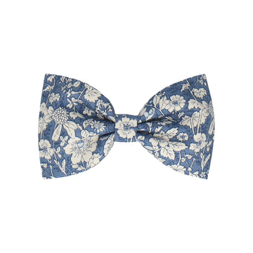 Copen Blue Floral Cotton (Child's Bow Tie)