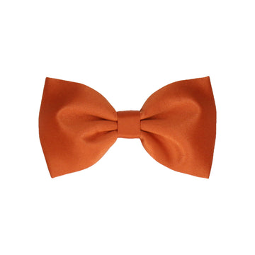 Plain Solid Copper Orange Satin (Child's Bow Tie)