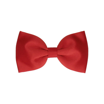 Vermillion Red Solid Plain Satin (Child's Bow Tie)